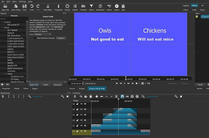 Owls and chickens screen shot