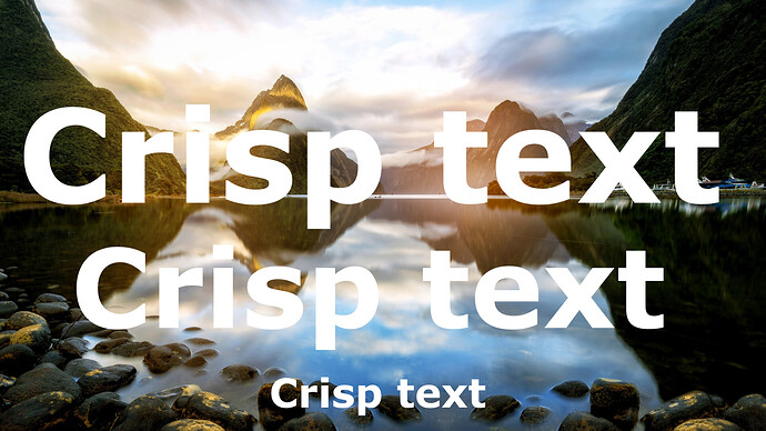 Crisp text in shotcut