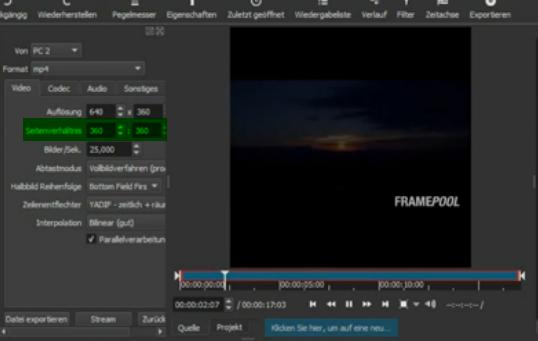 Video export format - Help/How To - Shotcut Forum