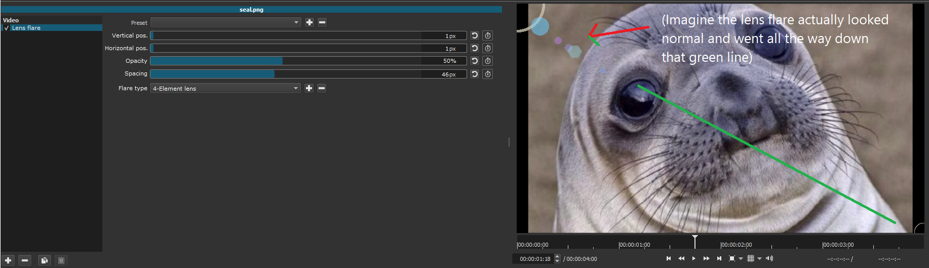 Lens flare filter - Suggestion - Shotcut Forum