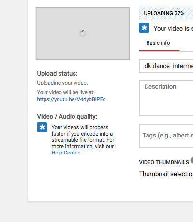 Warning from YouTube: