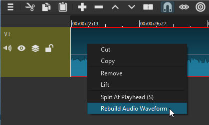 No more audio wave in timeline! - Bug - Shotcut Forum