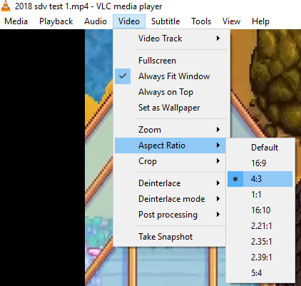 Exported video not in full resolution w10 / small video in