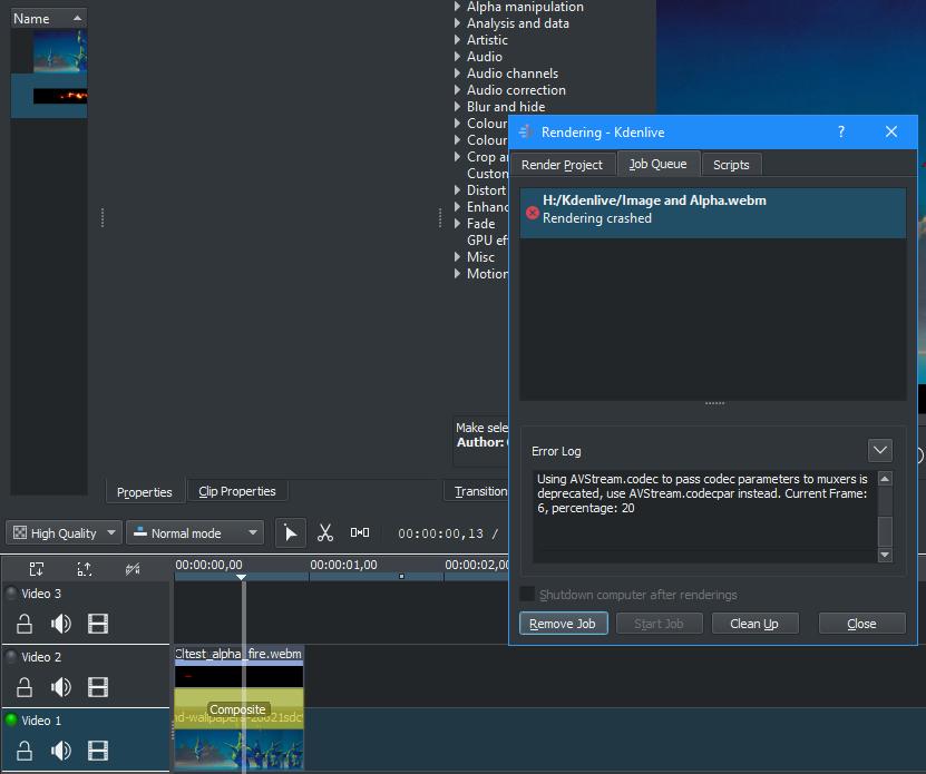 WEBM VP9 clip not showing alpha - Bug - Shotcut Forum