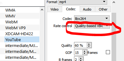 Exporting to WebM (VP8) produces the same filesize no matter