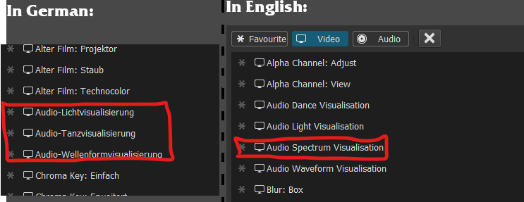 Filter missing in different languages - Bug - Shotcut Forum