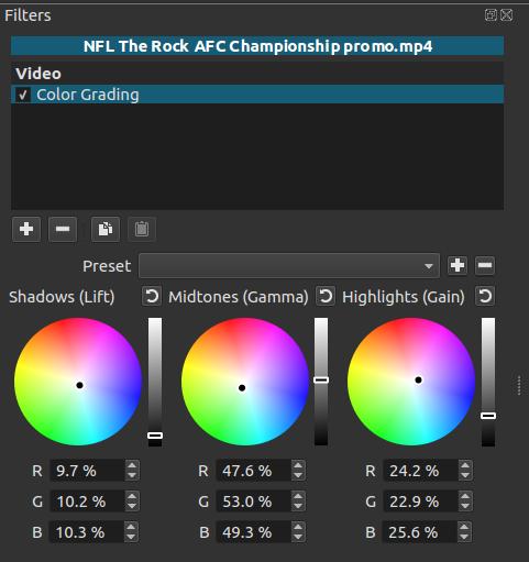 Color Grading filter improvement - Suggestion - Shotcut Forum