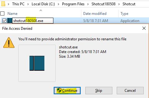 Local Settings Access Denied Windows 10