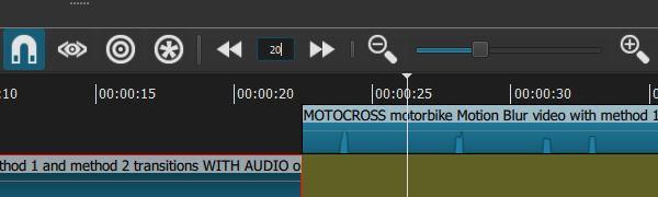 Shotcut Toolbar frame seek
