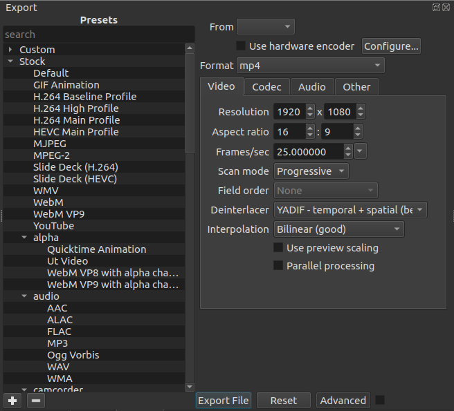 Shotcut Export To Mp4
